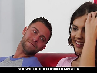 Big Boobs Brunettes video: SheWillCheat - Hot Wife Fucks Old Class Mate