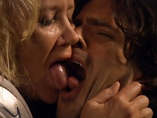 Grannies Celebrities Kissing video: Sally Kirkland - Tongue Kissing GILF