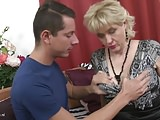 Taboo home sex with busty mother and son