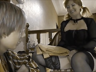 Russian MILF with Young Boy, Anal (Recolored)