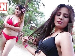 Bukkake Indian Big Tits video: Hot mom & daughter in bikini at swimming pool