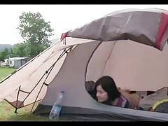 Amateur Teen Masturbate in Tent