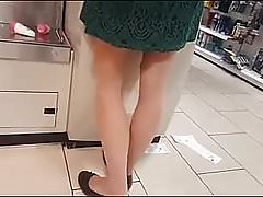 Shoppers En Tan Et Collants Noirs