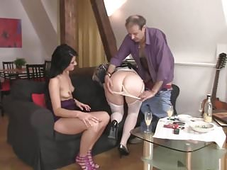Matures Oldyoung video: the taboo family threesome