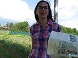 Public Agent Cash convinces slim beauty to bounce her pussy