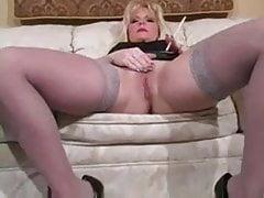 Hot Blonde MILF In Heels Smoking
