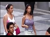 Candid Boobs: Busty Hispanic Women (Purple & Gray Tops) 3