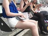 Teen legs candid