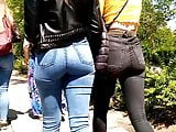 Hot teens with jeans ass