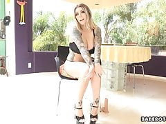 Solo Ash-blonde Bombshell, Karma Rx Is Displaying Off, In 4k