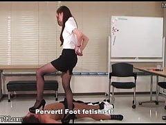Japanese Femdom Foot Fetish Pervert