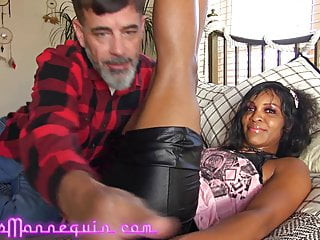 Hardcore Big Ass Milf video: Hot Black MILF Loves Grandpa's Big White Cock