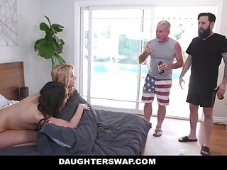 DaughterSwap - Curious Girls Try Double-Sided Dildo