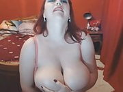 Redhead with big tits webcam