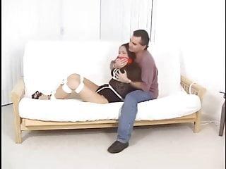 性感的亞洲女孩綁定堵嘴和摸索