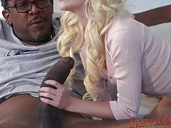 80lb blondýnka trvá 12 palců Největší černý kohout!