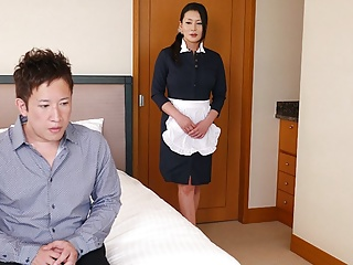 Asian Japanese Fingering video: Japanese maid, Rei Kitajima is fucking a horny client, uncen
