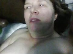 White Girl Two Black Cocks. Threesome