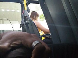 Public Nudity Voyeur Brazilian video: Masturbation in bus 4