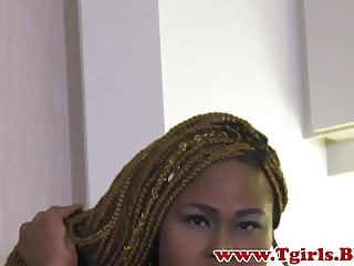 Hd Videos Solo Shemale Big Ass Shemale video: Chubby black trans filmed during her debut