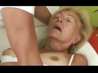 Blondes Grannies Granny video: Blonde Granny Sucks And Fucks