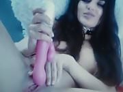 mastrubation and playing with toy, beautiful girl