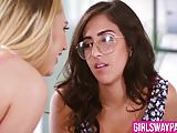 Dirty April O'Neil and Carter Cruise eat each others pussies