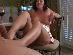 mature Margo make a footjob