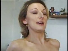 French MILF anal in stockings and heels.