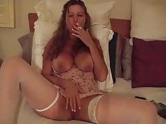 Mature Has A Smoking Fetish And Gets Horny