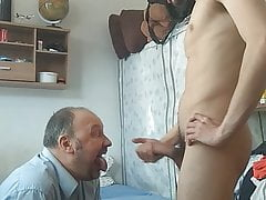Faggot Dad Prays Not Stepson For Spunk, Then Swallows