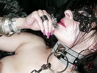 German Amateur video: Slut-Orgasma Celeste Speculum Orgasm in leather corset