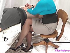 Mistress Handjob Tease In Collant