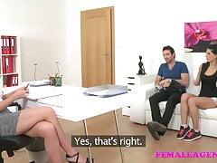 FemaleAgent Sexy Dreier mit einem spanischen Paar