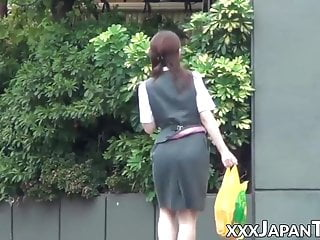 Public Nudity Asian Voyeur video: Japanese babes being sharked by brazen voyeurs