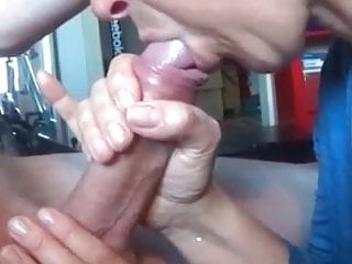 Nice blowjob with cum in mouth