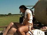 Notgeiler Bauer bumst notgeile Sau auf dem Feld