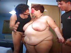 Fat granny double penetration