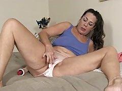Old Mommy Masturbates, using Her Pants