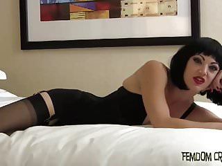 Bdsm Femdom Pov video: Stroke out a big load of cum and swallow it down CEI