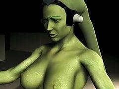Oola (Twilek) tanzt für Jabba