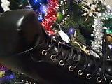 X HAMSTER Lady L HH 3: sexy  black metal boots.