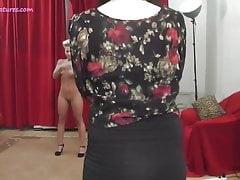 Versteckte Kamera mit sexy MILF