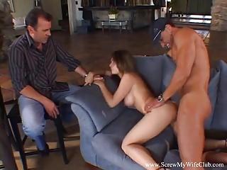 Milfs Amateur Swingers video: Chubby Wife Fucks A Stranger
