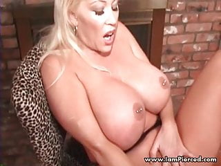 Bdsm Emo Gothic video: Iam Pierced MILF with nipple piercings playing with her