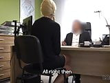 Talented realtor Karol has to fuck manager for a credit