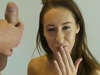Teen Small Tits Blowjob video: Best brunette WHAT IS HER NAME