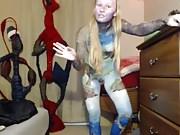 bodypaint blonde webcam