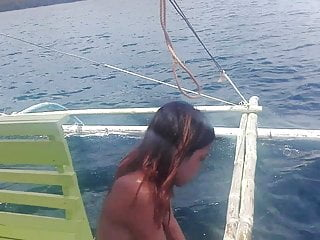 Public Nudity Asian video: Filipino Nudist Couple .. Nude boat trip