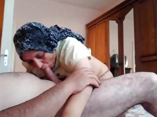 蓋頭土耳其媽媽他媽的和口交kopftuch